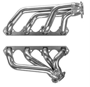 Small Block Ford Mustang Silver Coated Exhaust Headers 302 5 0l Gt40p Heads Sbf
