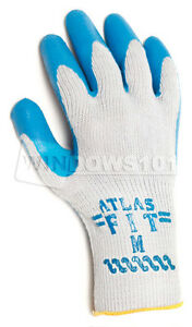 12 Pair Atlas Showa Fit 300 Rubber Coated Work Glove Medium Industrial Heavyduty
