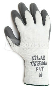 6 Pairs Atlas Showa Fit 451 300i Thermal Fit Rubber Coated Work Gloves Warm