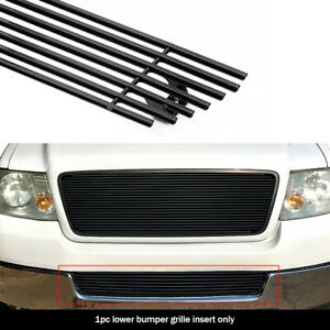 Fits 2004 2005 Ford F 150 Lower Bumper Black Billet Grille Insert