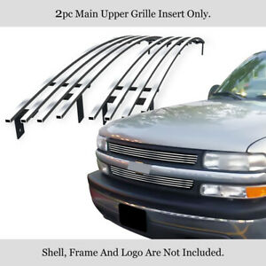 Fits Chevy Silverado 1500 Tahoe Suburban Main Upper Billet Grille Grill