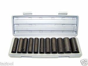 12 Pc 1 2 Drive Air Impact Deep Socket Set Sae 1 2in Dr Impact Wrench Sockets