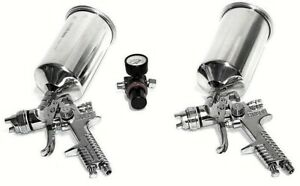 Air Spray Gun 3pc Set 1 4 1 7 With Air Regulator Hvlp Gravity Feed Spray Paint