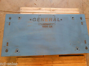 Ge Pro Weigh 84 1000lb Floor Scale 48 X 24 C w Load Cells