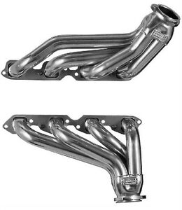 Big Block Chevy 1955 1956 1957 Block Hugger Silver Coated Exhaust Headers Bbc