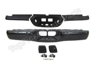 For Toyota 2000 2006 Tundra Standard Bed Rear Bumper Bar Blk Pads License Light