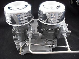 Vintage Speed s Rochester 2g Dual Carb To 4 V Adapter Setup Tri Power Hot Rod
