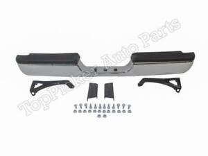 Rear Chrome Bumper Pad Brackets For 1994 2001 Dodge Ram 1500 2500 3500 Pickup
