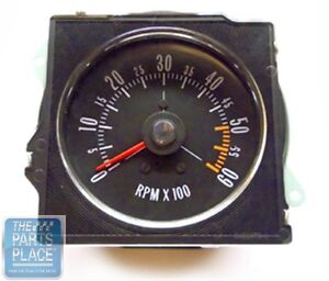 1970 72 Buick Gs New Dash Tach With Pointed Lens Factory Metal Housing