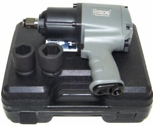 3 4 Drive Air Impact Wrench Twin Hammer 1250 Ft Lb Max 2 1 Dr Socket H D Gun