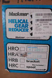 New Blackmer Helical Gear Reducer Model Hra Ratio 5 06 11 5 Hp