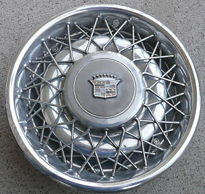1975 To 1984 Cadiillac Oem 15 Inch Wire Wheel Hub Cap Cover 253786 2