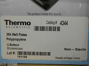 Thermo Scientific 384 Well Plates U Bottom Polypropylene 4344 sld