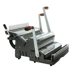 New Akiles Duomac C31 Plastic Comb And 3 1 Wire Binding Machine Free Shipping