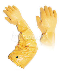 Atlas Showa 772 Medium 26in Nitrile Elbow Length Chemical Resistant Glove 6 Pack