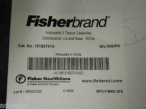 800 Approx Fisherbrand 15182701a Histosette Ii Tissue Cassettes White