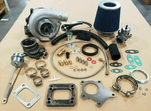 T3 t4 Hybrid Turbocharger Kit T3 T4 Turbo 3an Ss Line Downpipe Bov Stage 1