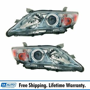 Headlights Headlamps Left Right Pair Set For 10 11 Camry Hybrid Us Built