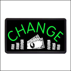 Change Backlit Illuminated Electric Window Sign 13 x24