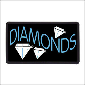 Diamonds Backlit Illuminated Electric Window Sign 13 x24