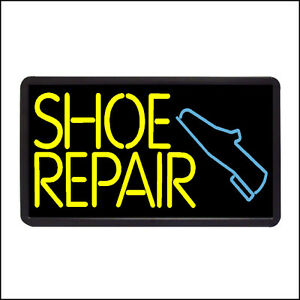 Shoe Repair Backlit Illuminated Electric Window Sign 13 x24