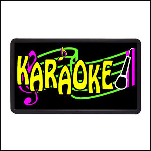Karaoke Backlit Illuminated Electric Window Sign 13 x24
