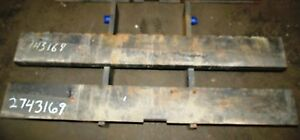 2743169 Clark Forklift Upright Mast Carriage Weld Class 2 Ii Used 49 x16 2 bar