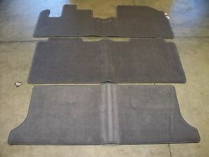 Genuine Oem 2001 2004 Honda Odyssey Gray 3 Piece Carpet Floor Mat Set