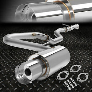 Stainless Steel Cat Back Exhaust System 4 Tip Muffler 04 10 Scion Tc 2az Fe I4