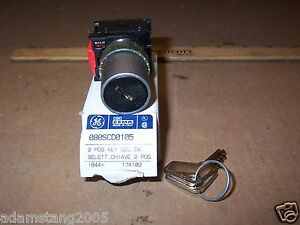New Ge General Electric 080scd0105 Key Switch 2 Position