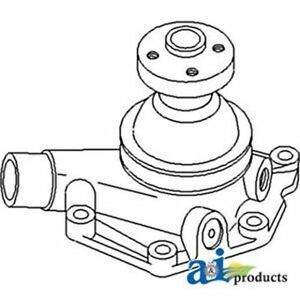 104354as Water Pump W Pulley Fits White Oliver Mpl Moline Tractor 1800