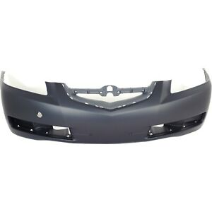 Front Bumper Cover For 2004 2006 Acura Tl W Fog Lamp Holes Primed