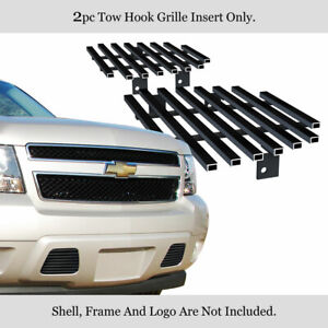 Fits 2007 2014 Chevy Tahoe Suburban Avalanche Bumper Black Billet Grille Grill