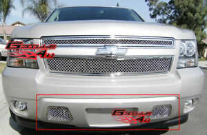 Fits 2007 2014 Tahoe Avalanche Suburban Bumper Mesh Grille Grill Insert