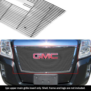 Fits 2010 2015 Gmc Terrain Billet Grille Insert With Logo Show