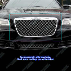 Fits 2011 2014 Chrysler 300 300c 4mm Stainless Steel Wire X Mesh Grille Grill