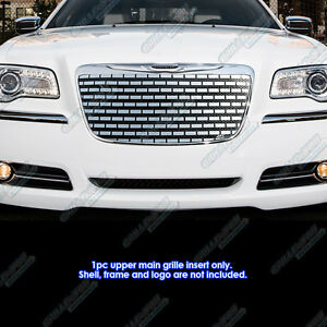 Fits 2011 2014 Chrysler 300 300c Stainless Steel Symbolic Grille Grill Insert