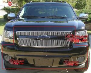 Fits 2007 2014 Tahoe Suburban Avalanche Vertical Billet Grille Grill Combo