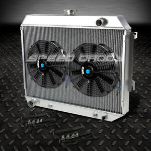 3 Row Full Aluminum Racing Radiator 2x10 Fan For 68 73 Dodge Charger Challenger