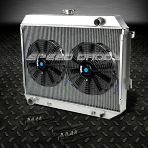3 Row Full Aluminum Racing Radiator 2 X 12 Fan 68 73 Plymouth Satellite Gtx V8