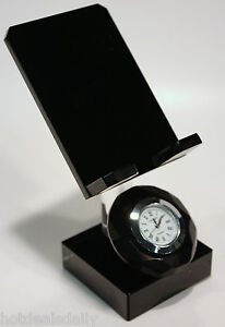 Easel Stand Clock Acrylic Crystal Great For Business Cards Small Photos More