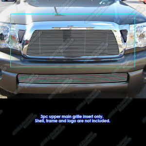 Fits 2011 Toyota Tacoma Main Upper Billet Grille Grill Insert