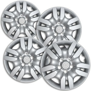 4 Pc Hubcaps Fits 02 13 Nissan Altima Quest 16 Silver Replacement Wheel Cover