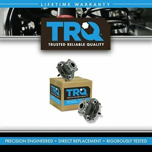 Trq Rear Wheel Hub Bearing 5 Lug Pair Set For Equinox Torrent Vue 2wd W o Abs