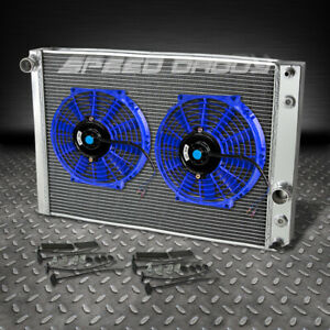 3 Row Aluminum Racing Radiator Blue Fan 91 96 Chevy Corvette 5 7l L98 Lt1 Zr1 V8