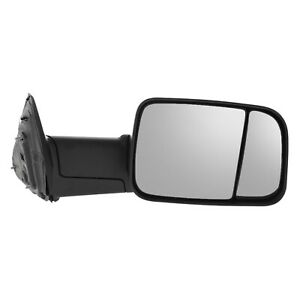 Tow Mirror For 2011 2012 Ram 1500 Passenger Side Manual Fold Blind Spot Extend