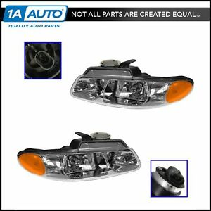 Quad Headlights Headlamps Left Right Pair Set New For Grand Caravan Voyager