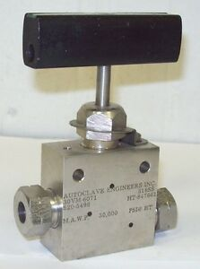 Autoclave Engineers F 375 C 3 8 30000 Psi Stainless Steel Valve 30vm6071