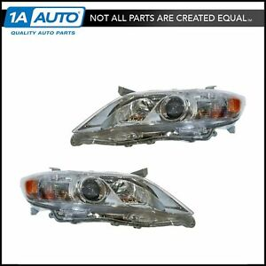 Headlight Headlamp Lh Left Rh Right Pair Set Of 2 For 10 11 Toyota Camry