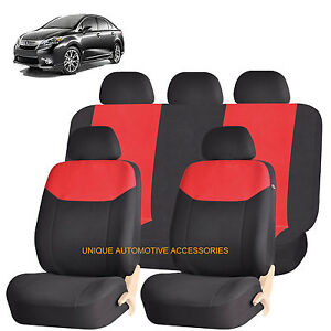 Red Elegant Front Back Seat Covers Set For Lexus Rx Lx Gx